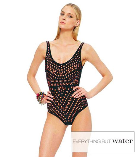 Mara Hoffman One Piece Wide Strap Tank Swimsuit