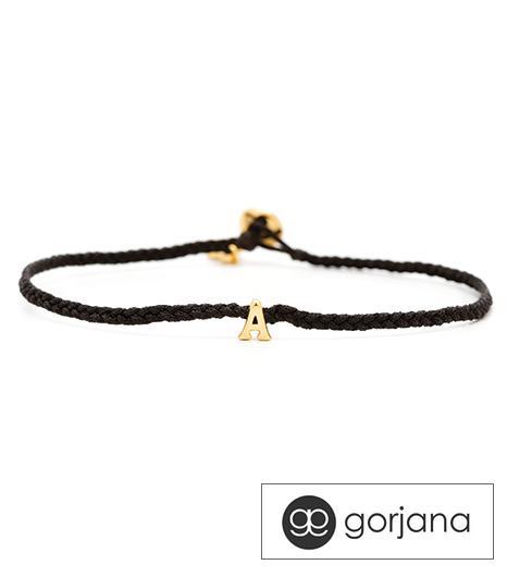 Gorjana Alphabet Braid Bracelet