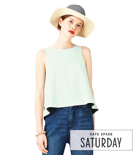 Kate Spade Saturday Reverse Trapeze Top