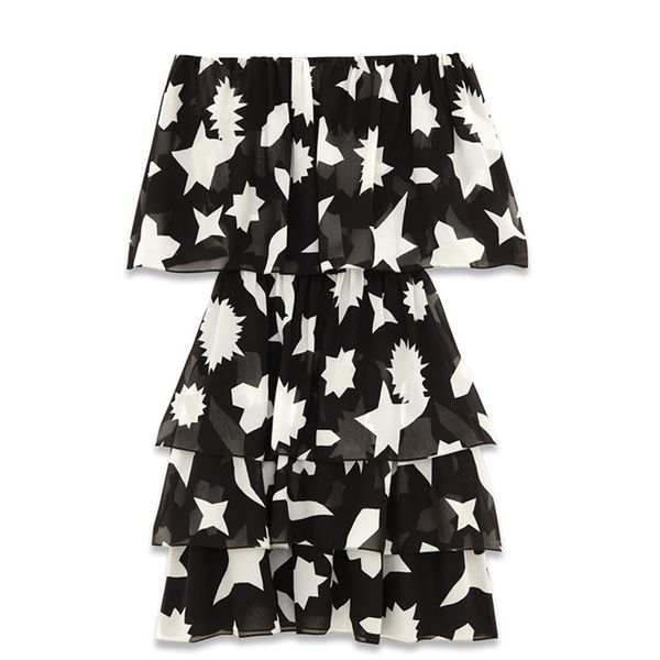 Saint Laurent Tiered Dress