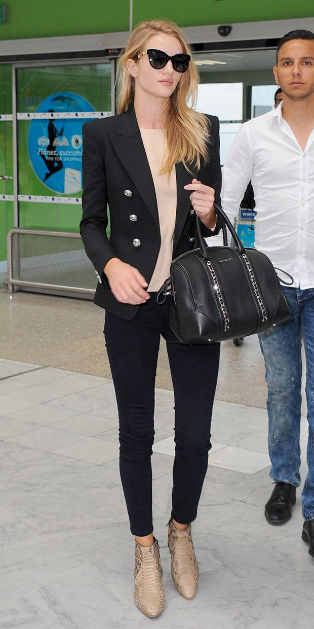Rosie Huntington-Whiteley s Tres Chic Departure. Dolce   Gabbana Filigree  Cat s-Eye Sunglasses ... 6249e793fd