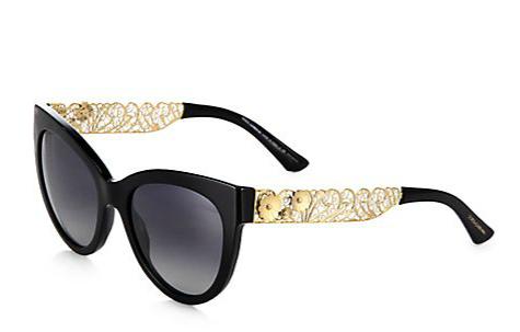 Dolce & Gabbana Filigree Cat's-Eye Sunglasses