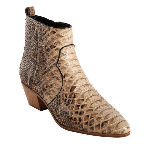 Saint Laurent Python Rock Ankle Boots