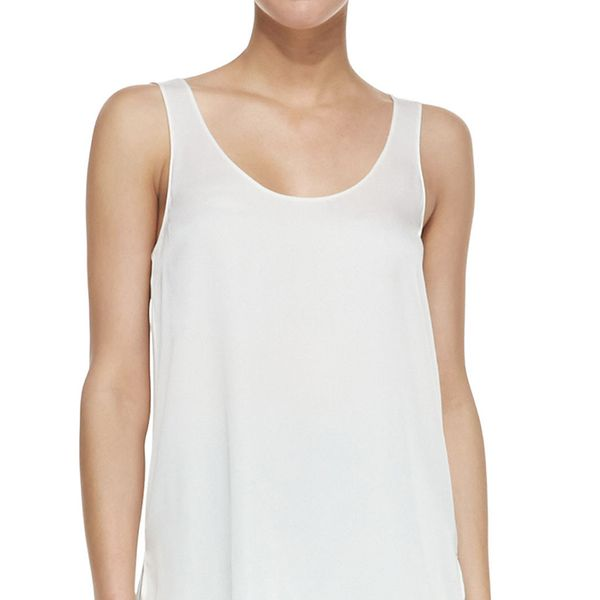 Vince Scoop-Neck Loose Silk Tank