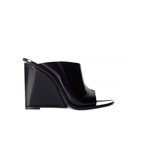 Zara Leather Wedge Shoe