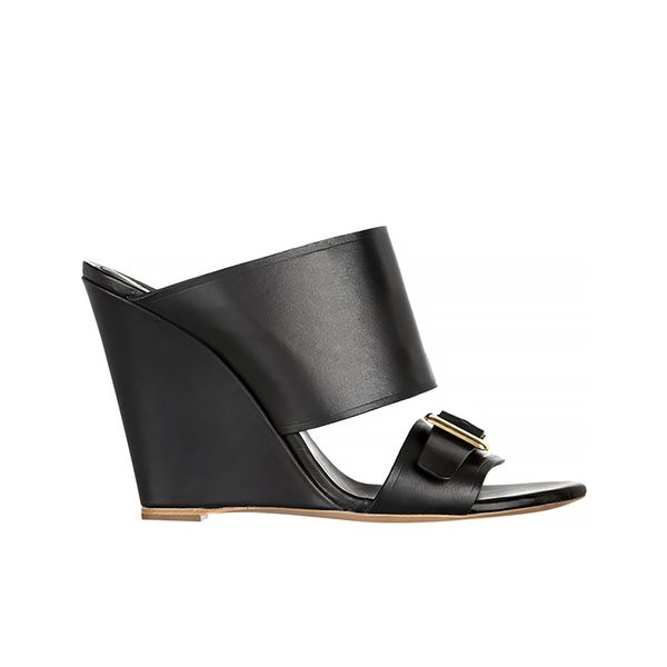 Chloe Buckle-Detailed Leather Mules