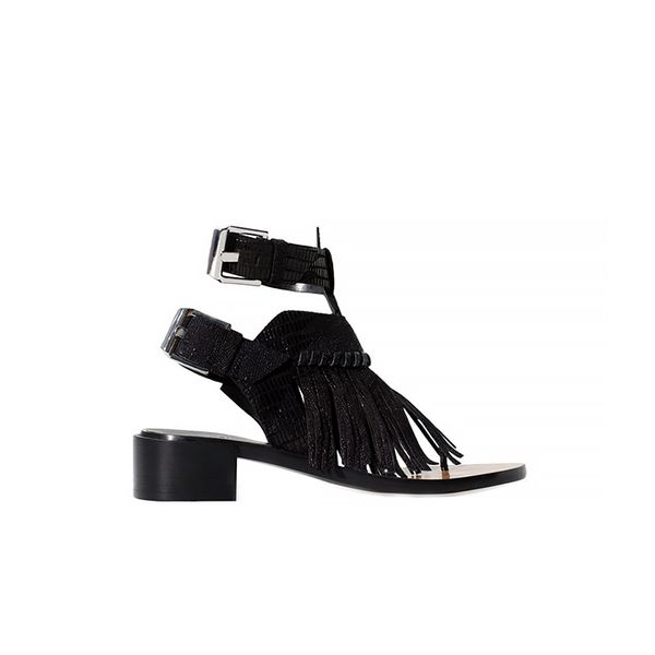 Zara Leather Sandals with Fringe