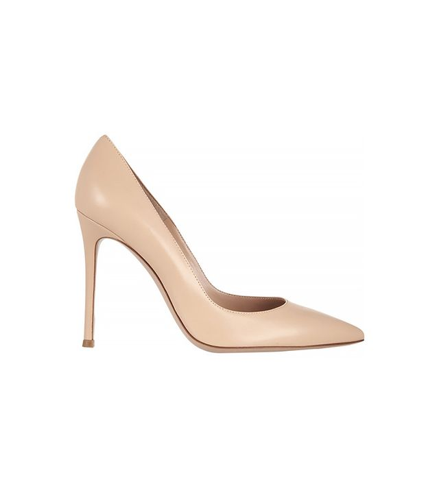 Gianvito Rossi Leather Pumps ($640) in Beige