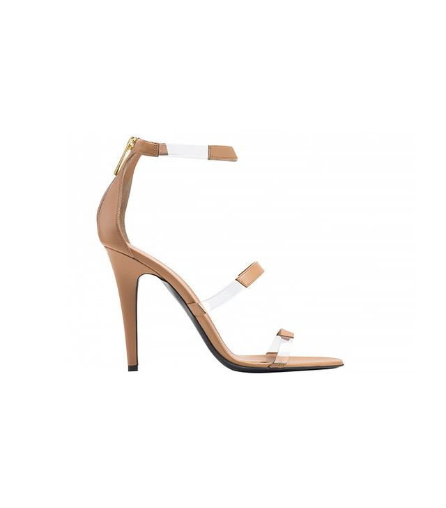 Tamara Mellon Frontline Nappa Sandals ($595) in Nude