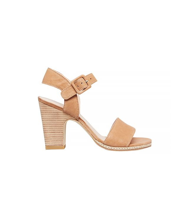 Stuart Weitzman Nsbandy High Heel Sandals ($355) in Adobe