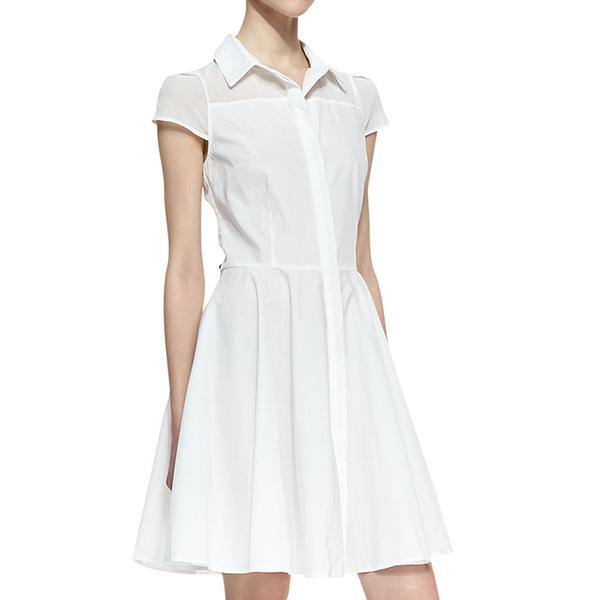 Amanda Uprichard Miah Fit-and-Flare Shirtdress