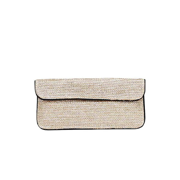 French Connection Pina Woven Clutch