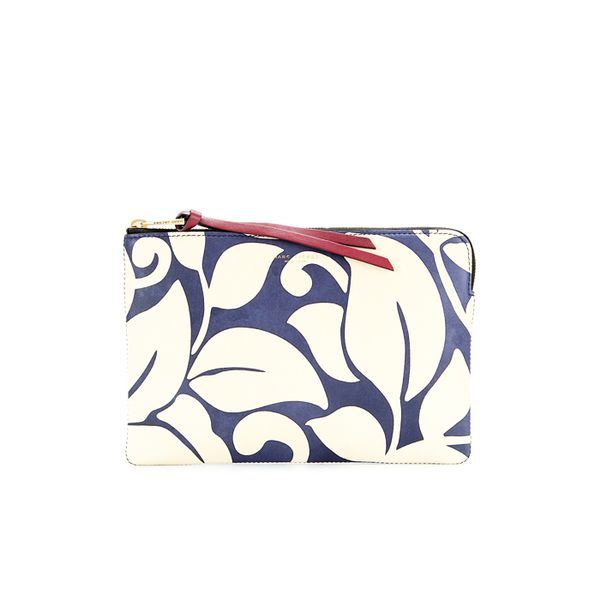 Marc Jacobs The Doubles Flat Pouch Printed Leather Clutch