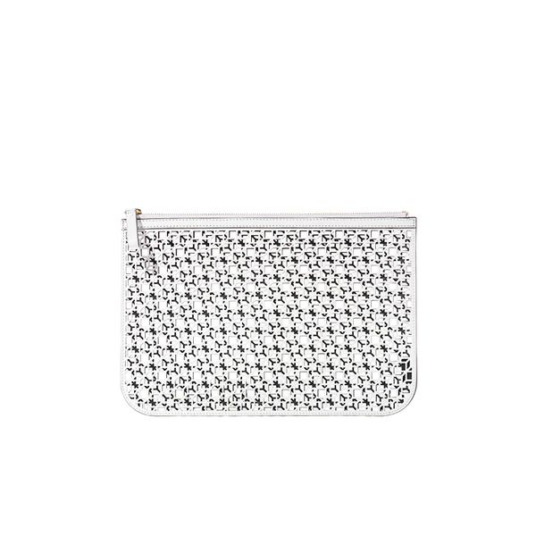 Pierre Hardy Cube Laser-Cut Leather Pouch