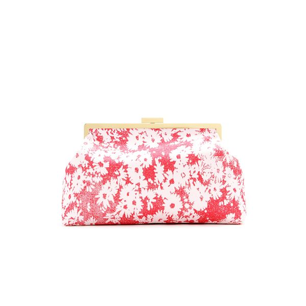 Stella McCartney Floral-Jacquard Oversized Clutch