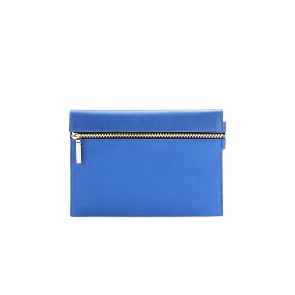 Victoria Beckham Zip Small Leather Clutch