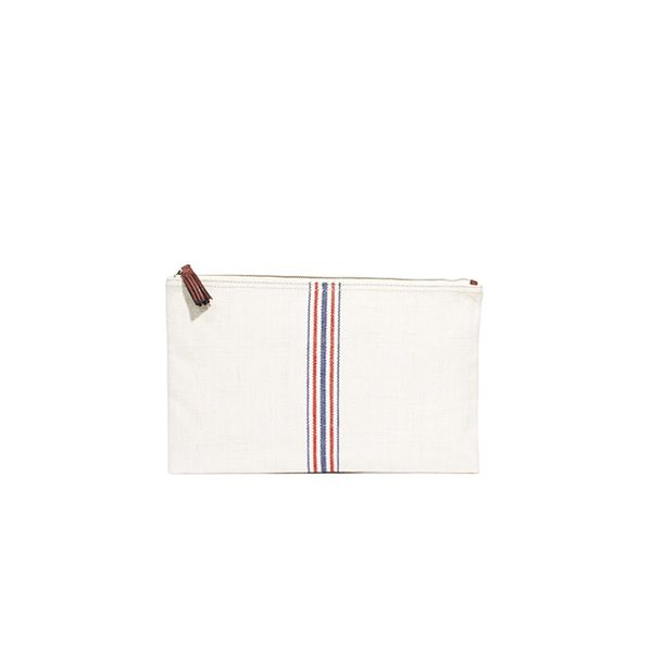 Madewell The Simple Pouch in Flag Stripe