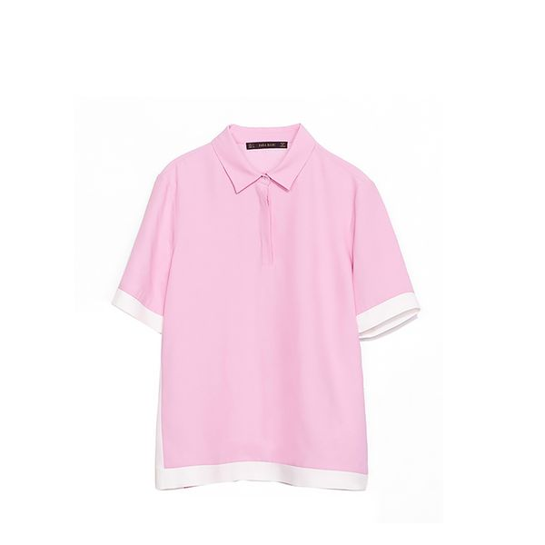Zara Two-Tone Polo Shirt