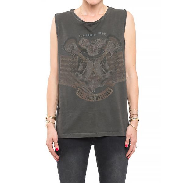 Anine Bing Vintage Graphic Tank Top