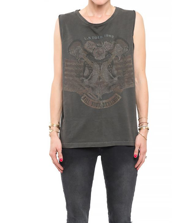 Anine Bing Vintage Graphic Tank Top ($119)