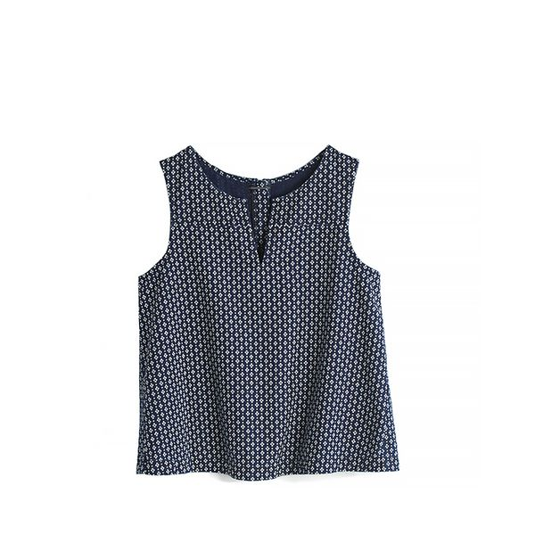 Madewell Denim Daisydot Top