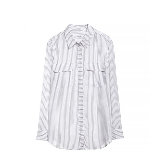 Equipment Signature Vertical Idle Pinstripe Shirt