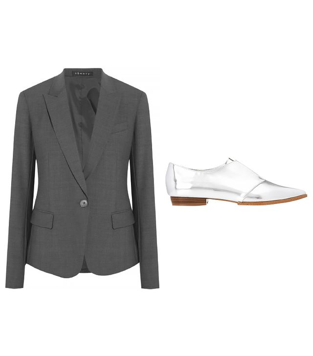 Theory Gabe B 2 Blazer ($395) in Urban Stretch Wool