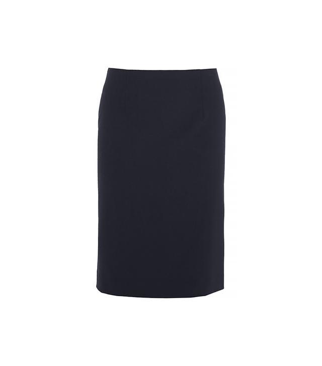 Theory Golda 2 Skirt($200) in Urban Stretch Wool