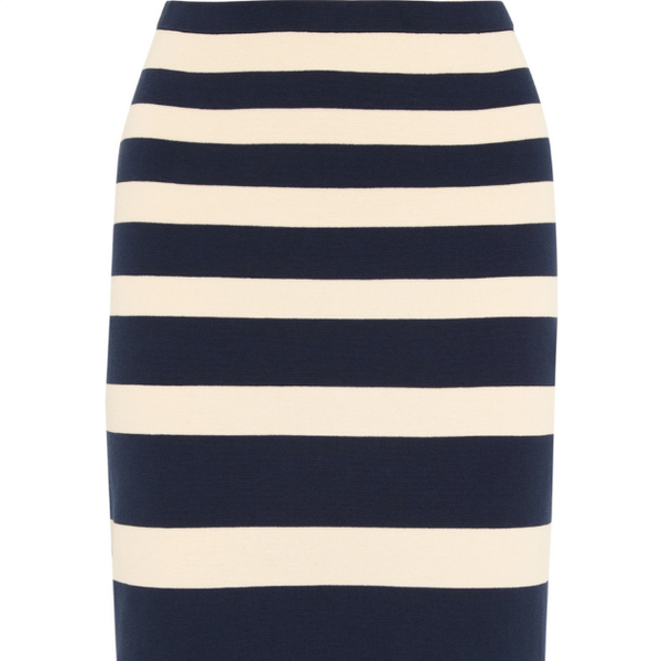 J.Crew Collection Striped Cotton Skirt