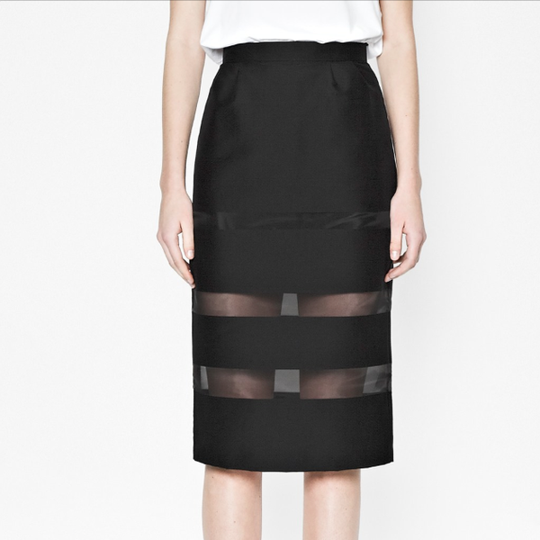 French Connection Wind Jammer Stripe Pencil Skirt