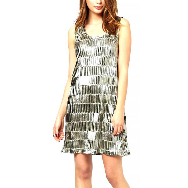 Minkpink Discoball Metallic Shift Dress