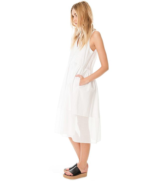 Tibi Ultra Matte Poplin Combo Dress ($398)