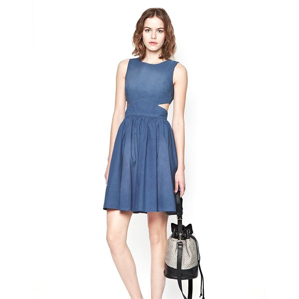 French Connection Blue Ash Denim Dress