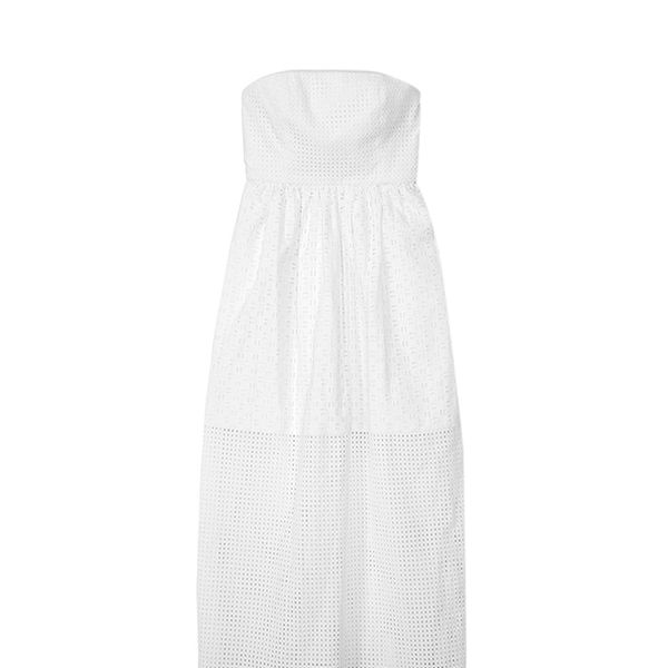 Tibi Kat Eyelet Strapless Dress