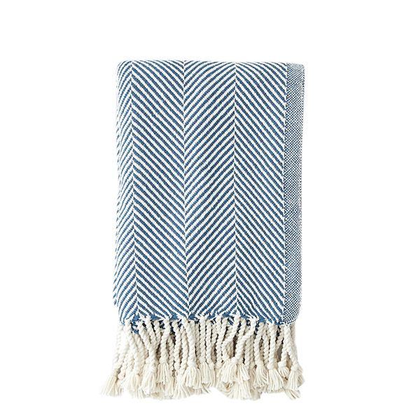 Brahms Mount Herringbone Cotton Throw