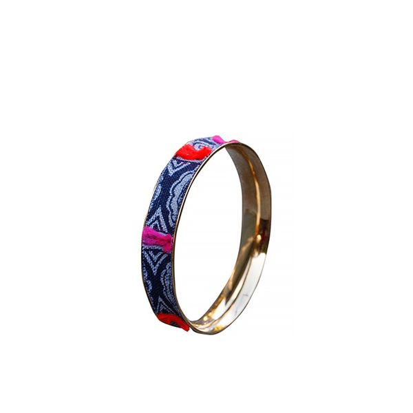 Serefina Indigo Fabric Bangle