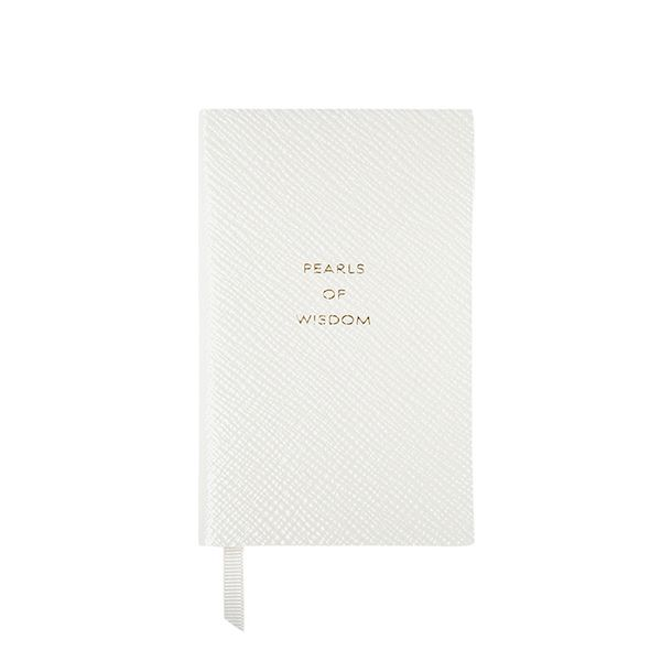 Smythson Graduation Collection Pearls Of Wisdom Wafer Notebook