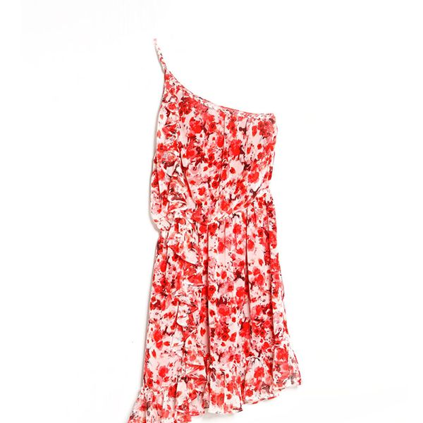 Mango Floral Asymmetric Dress