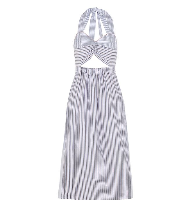 See By Chloé Cutout Striped Cotton Dress ($395)