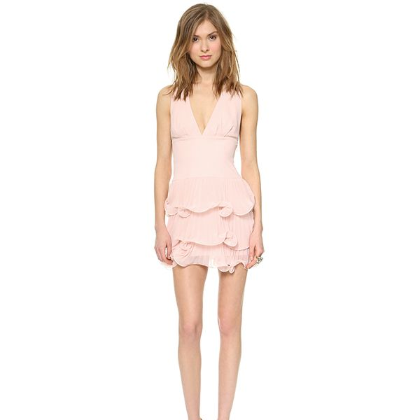BCBGMAXAZRIA Priscilla Ruffle Layer Dress