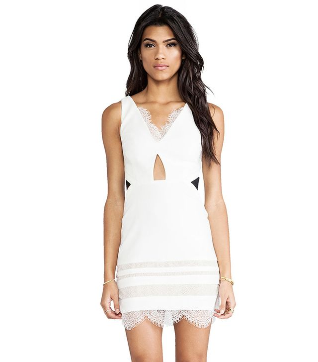 Three Floor White Isle Dress ($332) in White & Black