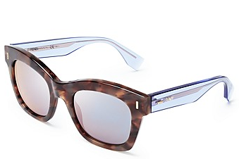 Fendi Oversized Mirror Wayfarer Sunglasses
