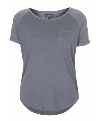 Topshop Washed Pocket Tee Shirt