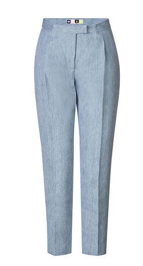 MSGM Cotton-Linen High-Waisted Pants