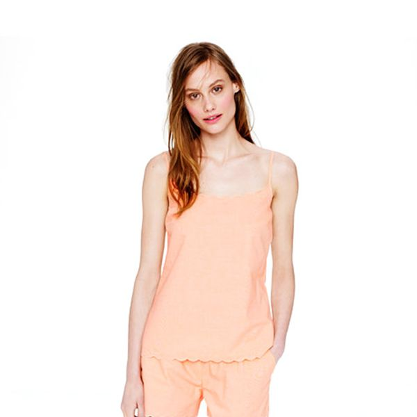J Crew Scalloped Pajama Short Set