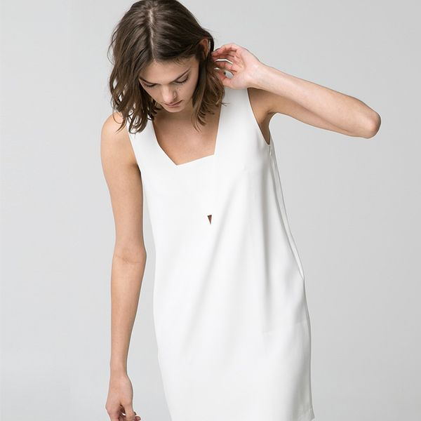 Mango Crepe Shift Dress