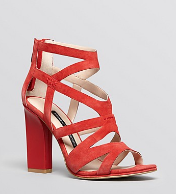 French Connection Open Toe Isla Caged Sandals