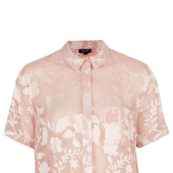 Topshop Crinkle Flower Shirt