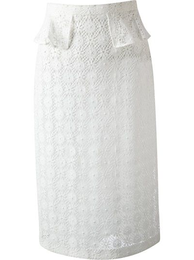 Burberry Prosum Broderie Anglaise Pencil Skirt