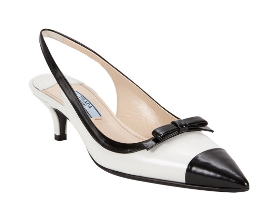 Prada Two-Color Slingback Pumps